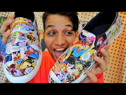 DIY turn any shoes to Superhero comic shoes
