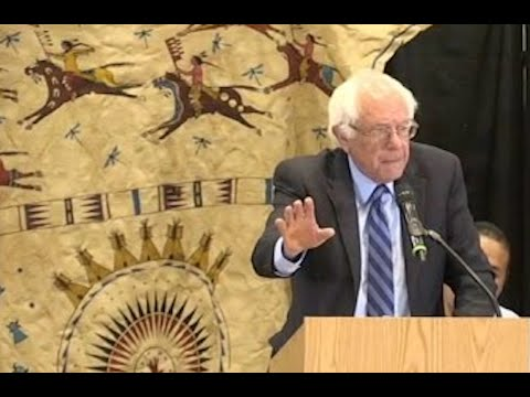 Bernie Sanders at Pine Ridge Indian Reservation