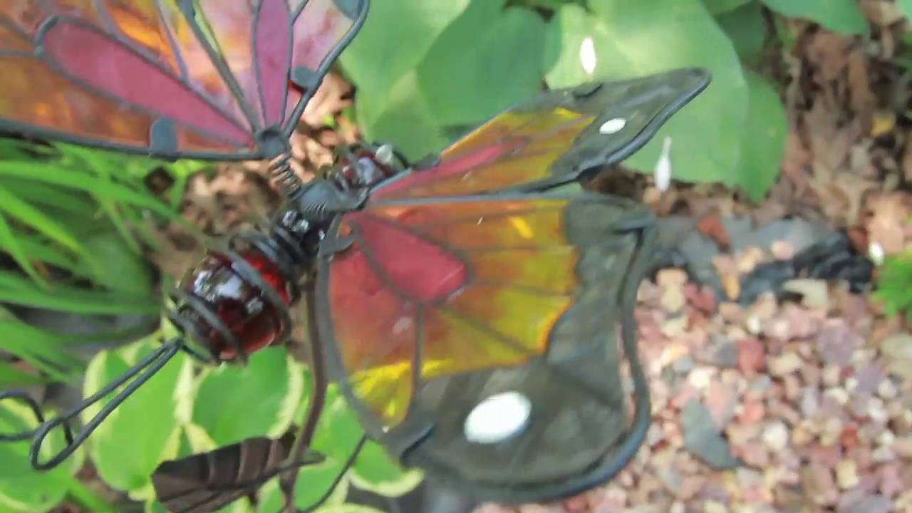 Beau Decorative Butterfly U0026 Dragonfly Metal Garden Stakes | Palmate™ Lawn Decor
