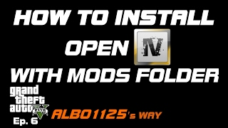 HOW TO INSTALL OPENIV WITH MODS FOLDER for Vehicles, Sirens, Peds & More | Modding GTA5 Albo's Way 6