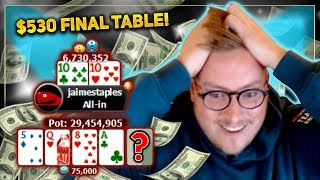$530 FINAL TABLE - INCREDIBLE POKER RUN!! 5 FIGURE SCORE??? |  PokerStaples Stream Highlights