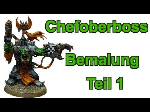 Wie bemale ich einen Chefoberboss Ork Lets paint Minis # 18 - Bemal Tutorial für Warhammer 40K