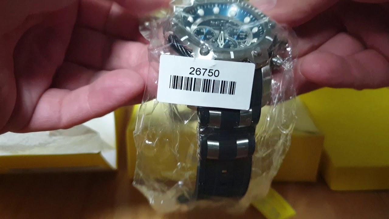 e69d01c96 Invicta Mens 26750 Bolt Quartz Chronograph Blue Dial Watch - YouTube