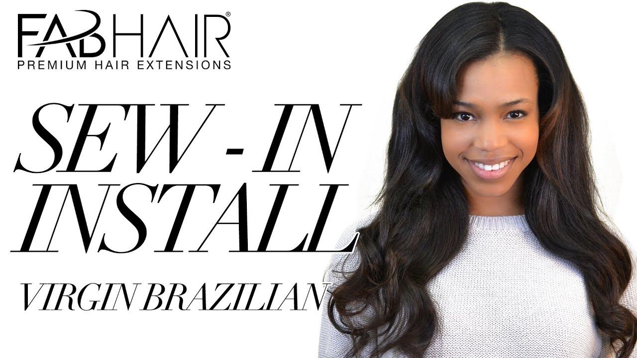 Virgin Brazilian Hair Weave Styles: SEW IN INSTALL VIRGIN BRAZILIAN WEAVE FROM FABHAIR