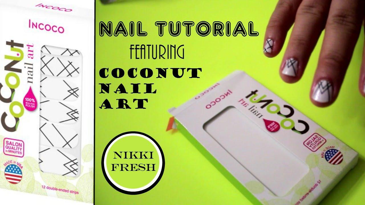Nail Tutorial   Coconut Nail Art Strips   LAS VEGAS - YouTube