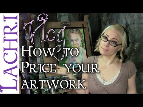 Tips for pricing your artwork - artist vlog  w/ Lachri