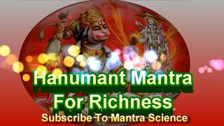 Hanuman Mantra - Lakshmi Shabar Mantra for Riches