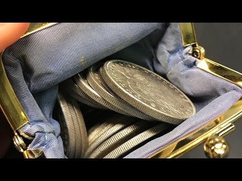 UNSEARCHED MORGAN SILVER DOLLAR POUCH CC's & MORE FOUND