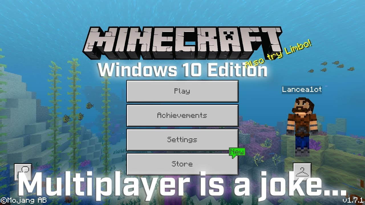 Minecraft Windows 10 Edition Multiplayer