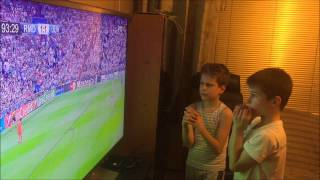Real Madrid vs Juventus: CL Semi finals-Two little Serbian Real Madrid fans reaction