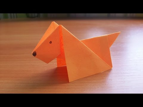 DIY How to Make An Easy Paper DOG. Origami Tutorial for Kids and Beginners