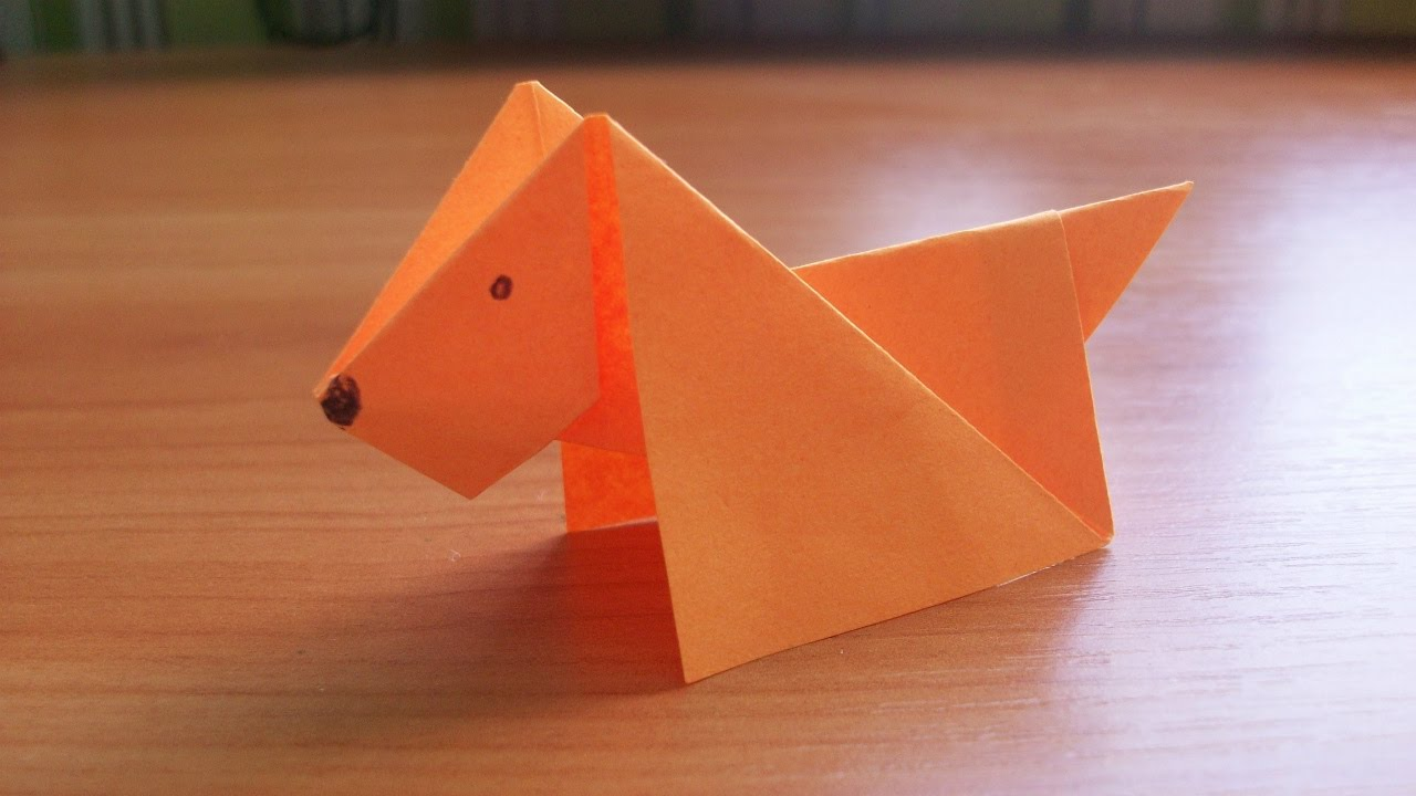 Diy How To Make An Easy Paper Dog Origami Tutorial For Kids And