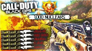 BLACK OPS 3 UNLOCKING 1000 NUCLEARS on 1 ACCOUNT! WORLD'S MOST NUKES IN COD BO3