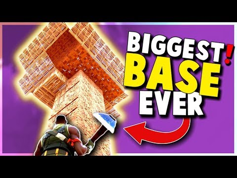 BIGGEST BASE Ever Built! (Fortnite Battle Royale Duos and Wins)