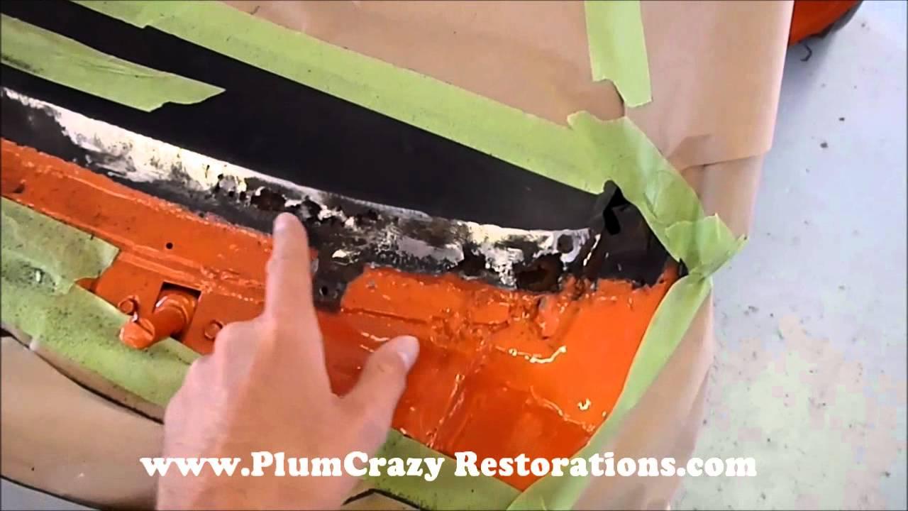 1967 Chev Camaro Windshield Rust Repair Youtube