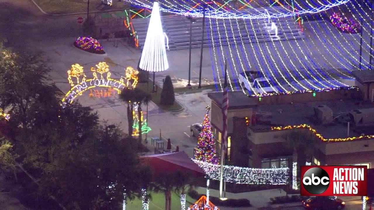 chick fil a in tampa decorated with millions of christmas lights - Christmas Lights Tampa