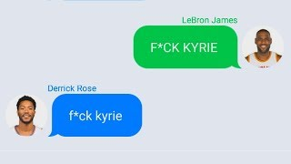 LeBron Texting Derrick Rose After Joining Cavaliers (Parody)
