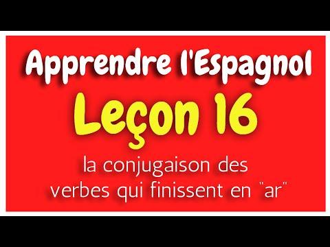 Verbes Reguliers Qui Finissent En Ar Espagnol Apprendre L Espagnol