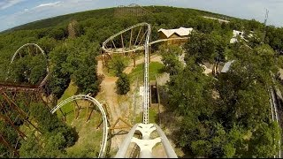 Powder Keg Roller Coaster POV UPDATED 2013 Silver Dollar City Branson MO