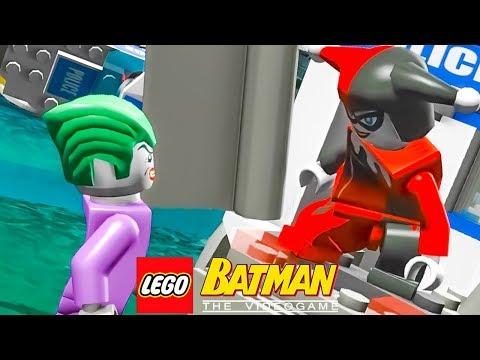 CORINGA E VAGALUME RESGATANDO A ARLEQUINA - JOGANDO COM OS VILÕES no LEGO Batman The Videogame