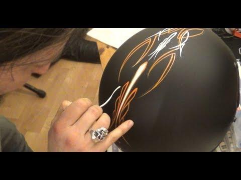 Pinstriping a Biltwell Gringo Helmet
