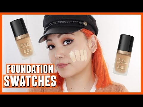 Too Faced Born This Way Foundation Swatches (ALL SHADES)