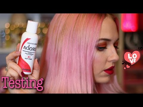 Teting Adore Semi Permanent Hair Colour Hot Pink Idlegirl Youtube