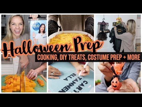 HALLOWEEN PREP // COOK WITH ME, EASY DIY TREATS, LAST MINUTE COSTUME IDEAS + MORE