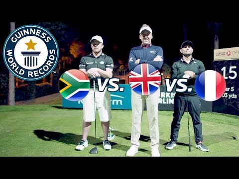Pro golfers attempt fastest hole of golf – Guinness World Records