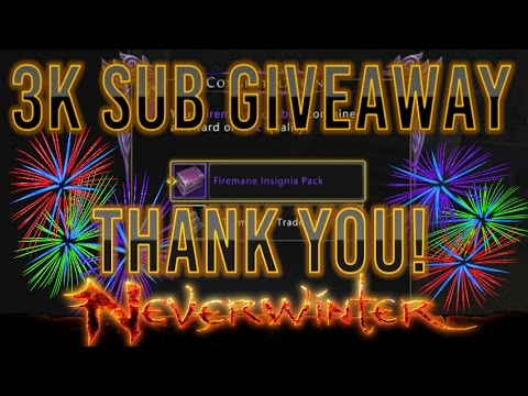 Neverwinter | 3k Subs Huge Special Giveaway! PC PSN XBOX Codes!