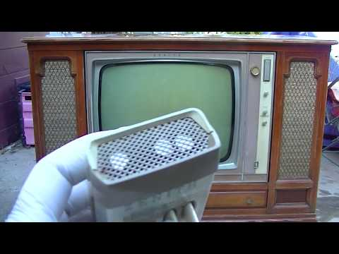 1961 Zenith Space Command Black And White Television Console Analysis2
