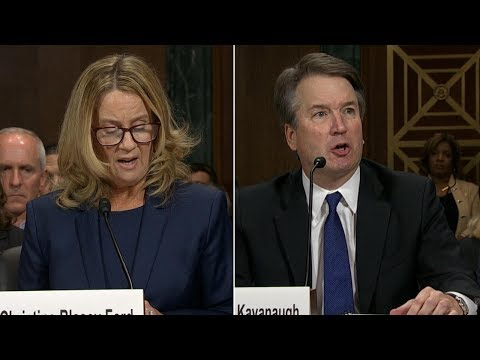 Brett Kavanaugh and Christine Blasey Ford testify in Supreme Court hearing