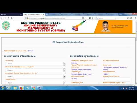 obmms - How to apply online? ST, SC and BC Loan Application Form