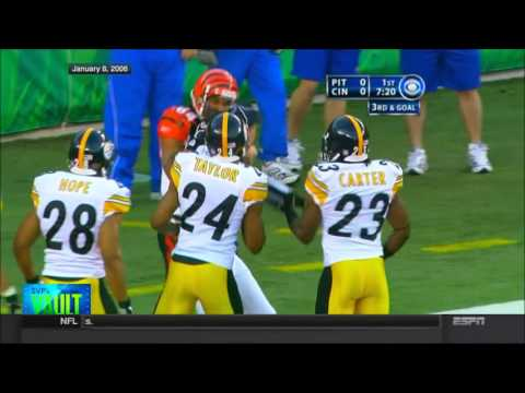 Steelers vs Bengals 2005 AFC Wild Card highlights - SportsCenter (High Definition)