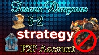 castle clash insane dungeon 6 2 strategy f2p account