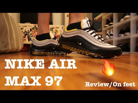 """nike-air-max-97-""""black/yellow""""-review/on-feet!!!🔥"""