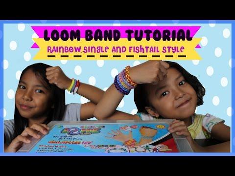 LOOM BAND ♥ TUTORIAL MUDAH MEMBUAT RAINBOW LOOM BAND DARI KARET| EASY