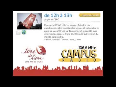 Emission radio ATTAC sur TERRE DE LIENS NORD-PAS DE CALAIS