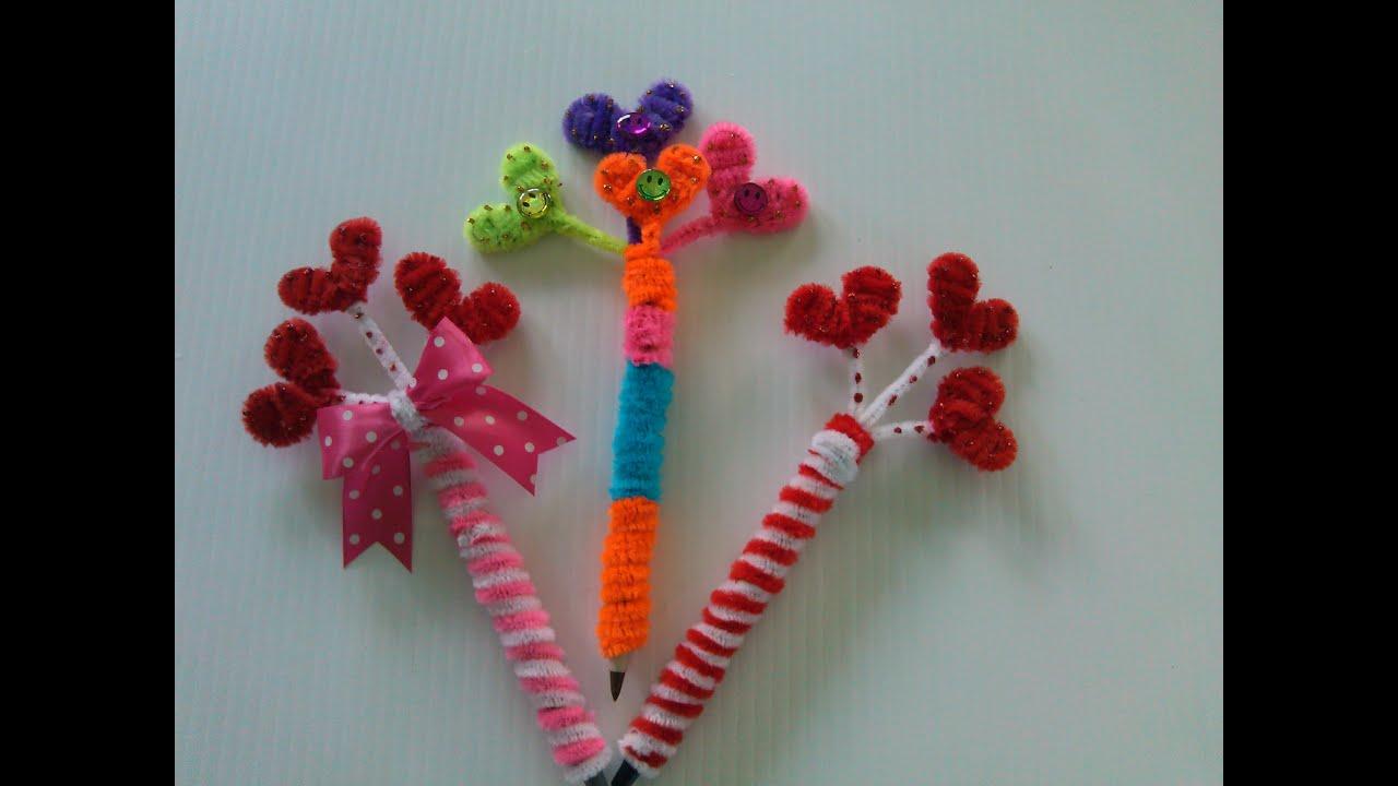Plumas adornadas con corazones limpia pipas pens with - Hacer trabajos en casa boligrafos ...