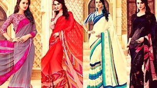 Indian Ethnic Wear - Printed Ethnic Sarees For Women 2018