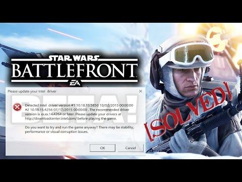 Star Wars Battlefront 3 Crash Fix, Intel Error And Enter Problems Solved!
