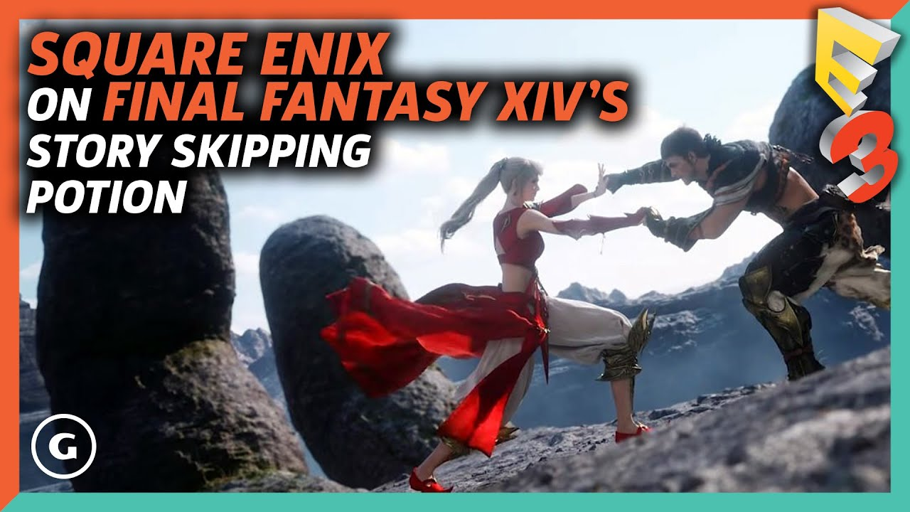 Square Enix Suggests You Don't Buy Their Story Skipping Potion For FF14 |  E3 2017 GameSpot Show