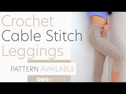Crochet Cable Stitch Leggings | Pattern & Tutorial DIY