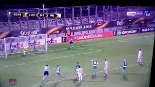 Ricardo Rodriguez Goal vs Ludogorets. 0-2 Milan
