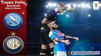 """Napoli Vs Inter Coppa Italia, Sfida di Ritorno """"Napoli Vuole la Finale, Inter la Rimonta"""" PES 2020"""