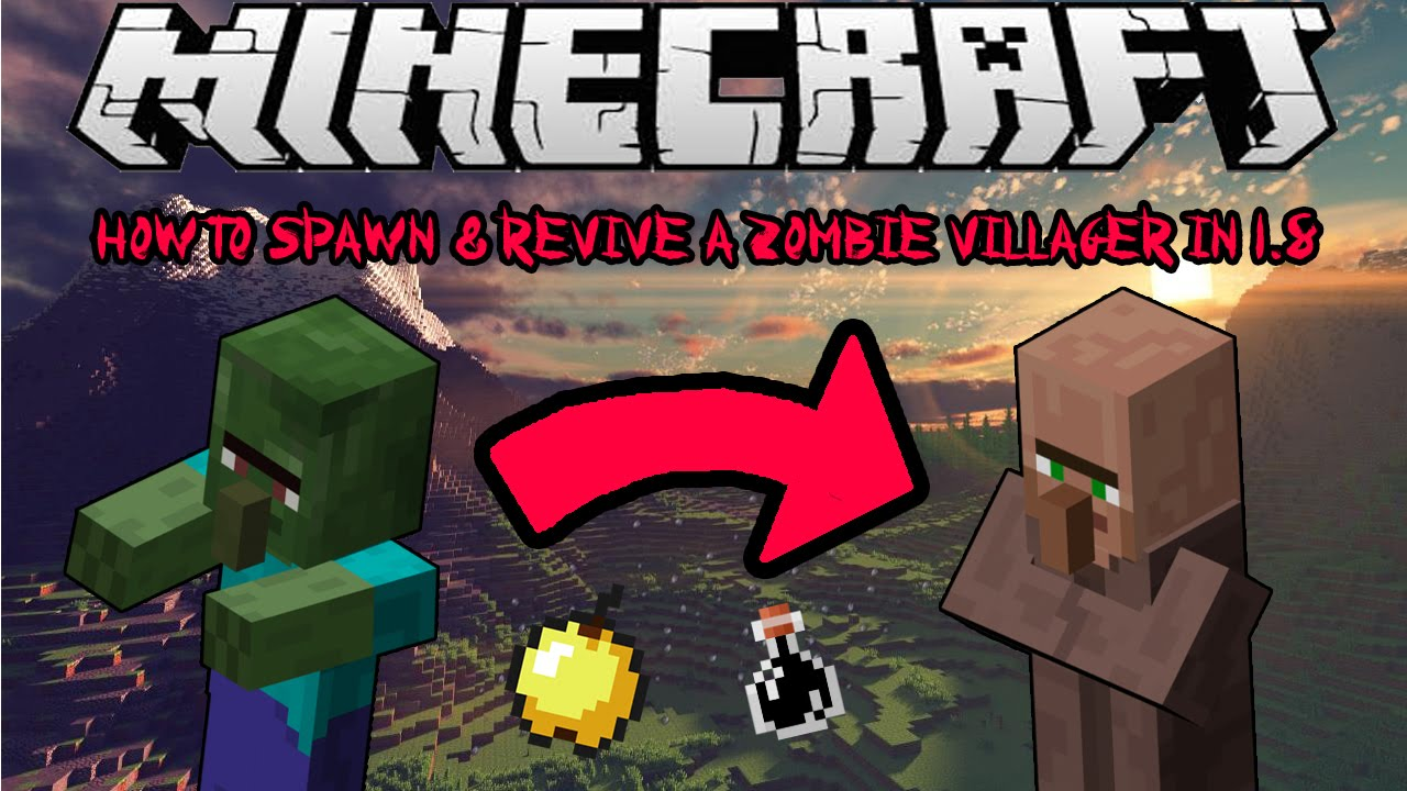 How To Spawn & Cure Zombie Villagers In Minecraft 12.12