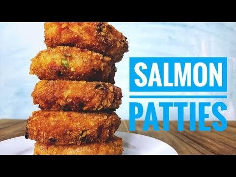 How To Make SALMON PATTIES With Fresh Roasted Salmon