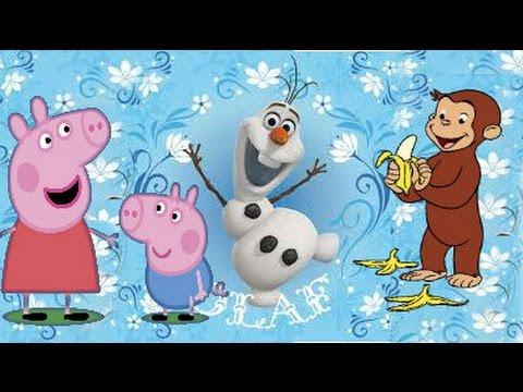 Peppa Pig George O Curioso Frozen Olaf Disney Desenho Colorido
