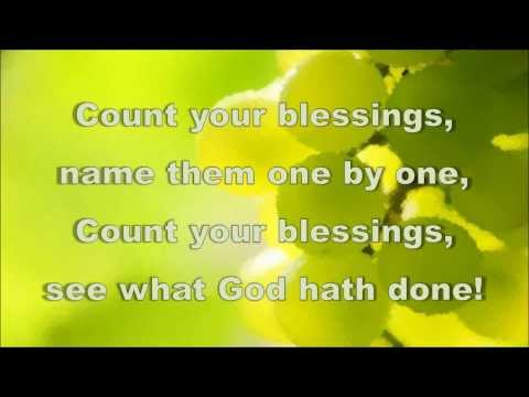 Count Your Blessings - Hymn - Karaoke