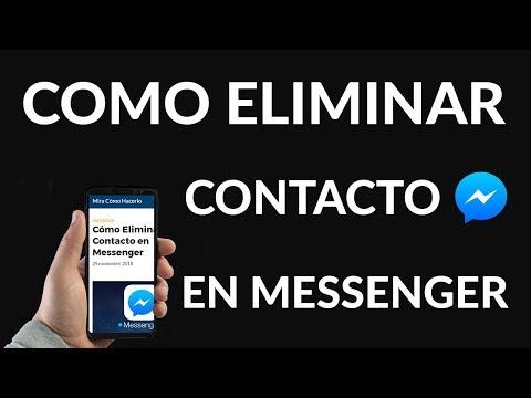 Cómo Eliminar un Contacto en Messenger